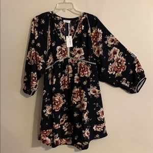 New Floral long sleeve dress